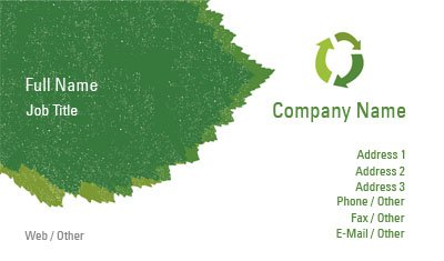 Green Organic Business Card Template